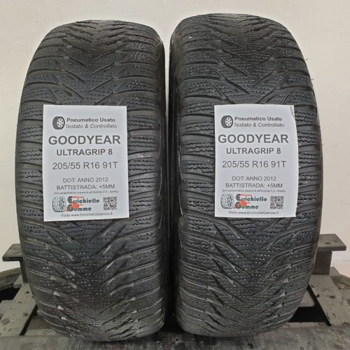 205/55 R16 91T Goodyear UltraGrip 8 – 60% +5mm – Gomme Invernali