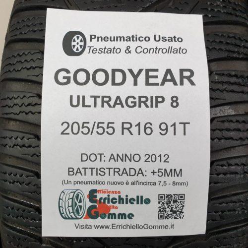 205/55 R16 91T Goodyear UltraGrip 8 – 60% +5mm – Gomme Invernali