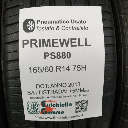 165/60 R14 75H Primewell PS880 – 60% +5mm – Gomme Estive