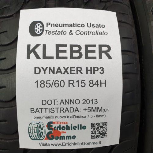 185/60 R15 84H Kleber Dynaxer HP3 – 60% +5mm – Gomme Estive