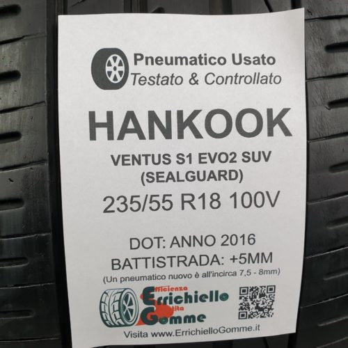 235/55 R18 100V Hankook S1 Evo 2 SUV (Seal Guard) – 60% +5mm – Gomme Estive