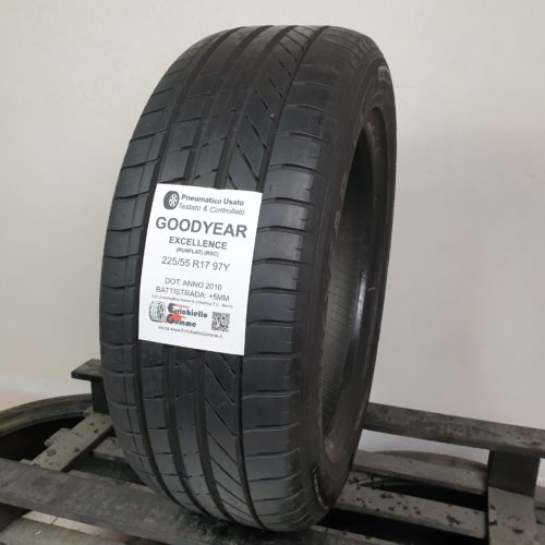 225/55 R17 97Y Goodyear Excellence (RSC) (Runflat) – 60% +5mm Gomma Estiva
