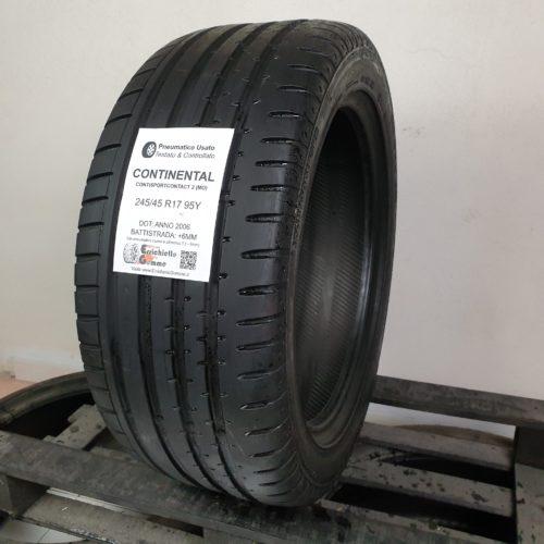 245/45 R17 95Y Continental SportContact 2 (MO) – 70% +6mm – Gomma Estiva