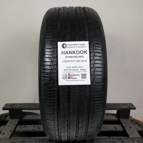 235/55 R17 99V M+S Hankook Dynapro HP2 – 70% +6mm – Gomma 4 Stagioni