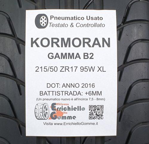 215/50 ZR17 95W XL Kormoran Gamma B2 – 70% +6mm Gomma Estiva