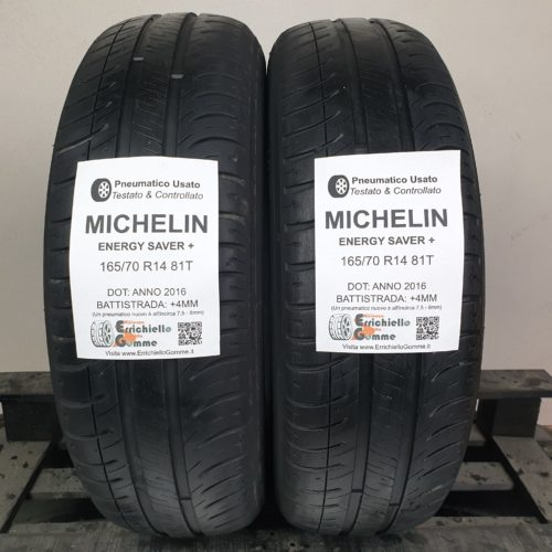 165/70 R14 81T Michelin Energy Saver+ – 50% +4mm – Gomme Estive