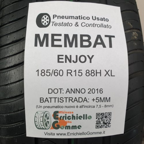 185/60 R15 88H XL Membat Enjoy – 60% +5mm – Gomme Estive