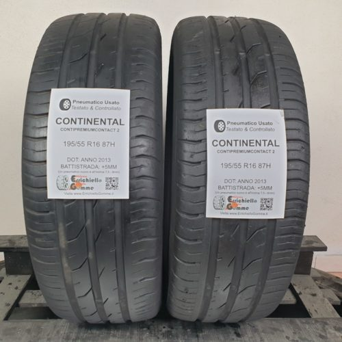 195/55 R16 87H Continental ContiPremiumContact 2 – 60% +5mm – Gomme Estive