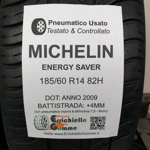 185/60 R14 82H Michelin Energy Saver – 50% +4mm – Gomme Estive