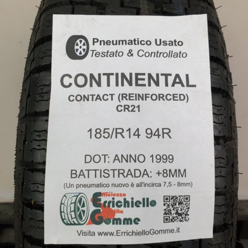 185 R14 94R Continental Contact CR21 (Reinforced) – 100% +8mm – Gomma Estiva