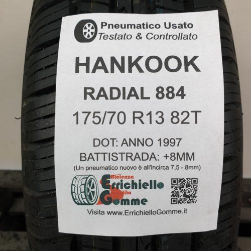 175/70 R13 82T Hankook Radial 884 – 100% +8mm – Gomma Estiva