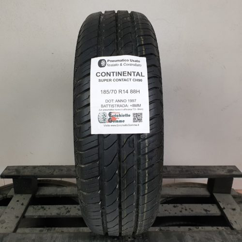 185/70 R14 88H Continental Super Contact CH90 – 100% +8mm – Gomma Estiva