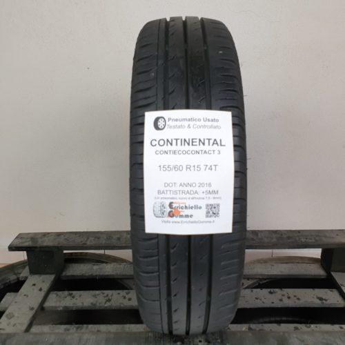 155/60 R15 74T Continental ContiEcoContact 3 – 60% +5mm – Gomma Estiva