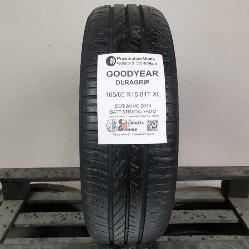 165/60 R15 81T XL Goodyear Duragrip –  60% +5mm – Gomma Estiva