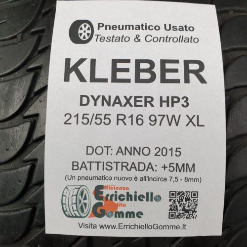 215/55 R16 97W XL Kleber Dynaxer HP3  –  60% +5mm – Gomma Estiva