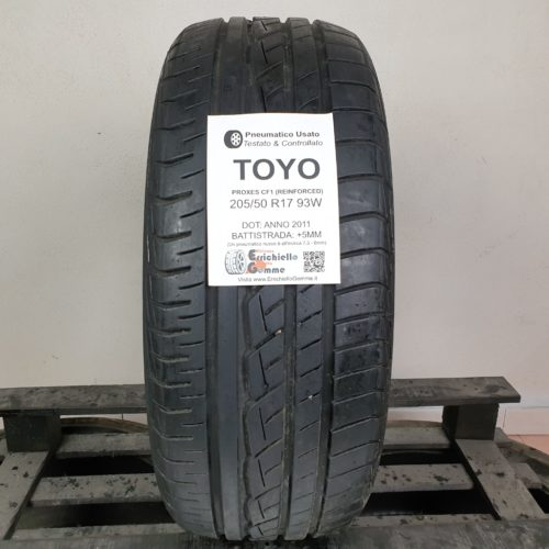 205/50 R17 93W Toyo Proxes CF1 (Reinforced)  – 60% +5mm Gomma Estiva