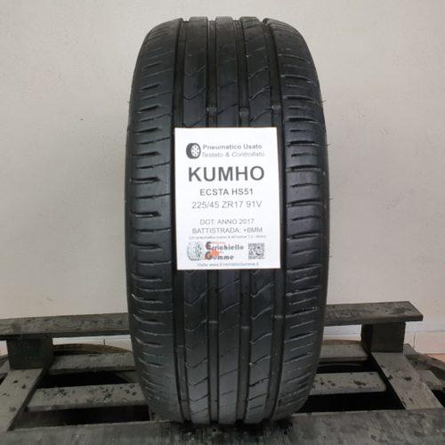 225/45 ZR17 91V Kumho Ecsta HS51  –  70% +6mm Gomma Estiva