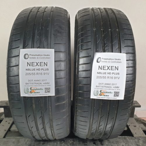 205/55 R16 91V Nexen NBlue HD Plus  – 50% +4mm – Gomme Estive