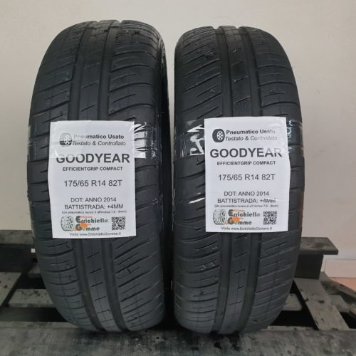 175/65 R14 82T Goodyear EfficientGrip Compact  – 50% +4mm – Gomme Estive