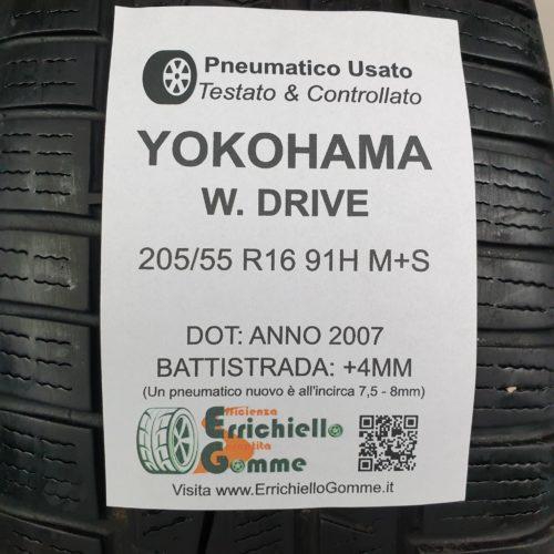 205/55 R16 91H M+S Yokohama W. Drive –  50% +4mm – Gomme 4 Stagioni