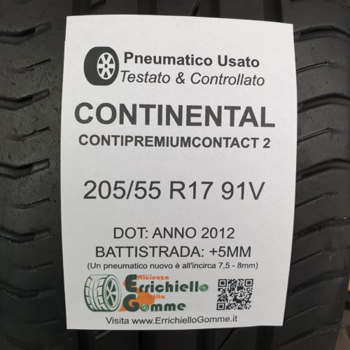 205/55 R17 91V Continental ContiPremiumContact 2 –  60% +5mm – Gomme Estive