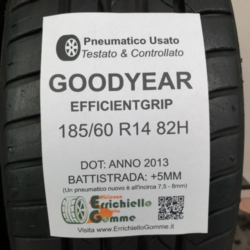 185/60 R14 82H Goodyear EfficientGrip – 60% +5mm – Gomme Estive