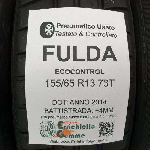 155/65 R13 73T Fulda EcoControl – 50% +4mm – Gomme Estive