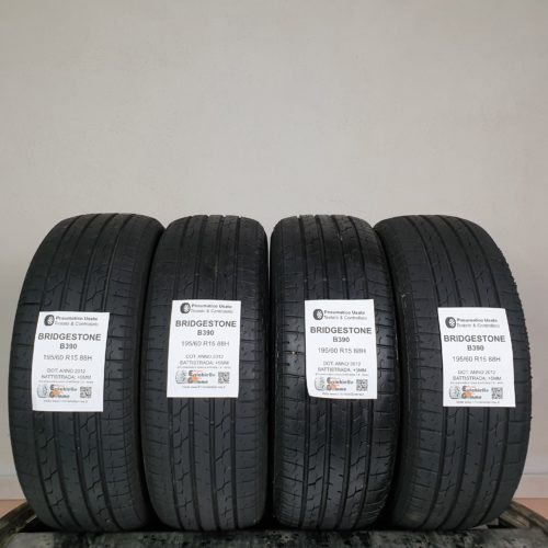 195/60 R15 88H Bridgestone B390 – 60% +5mm – Gomme Estive