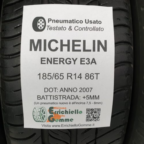 185/65 R14 86T Michelin Energy E3A – 60% +5mm – Gomme Estive