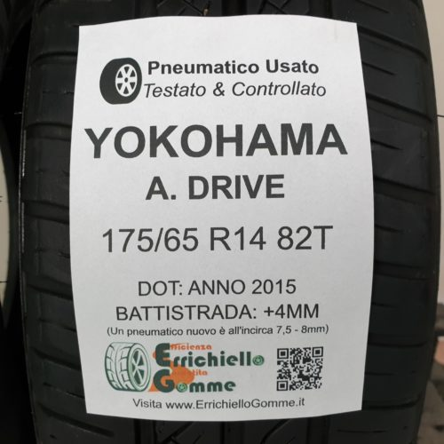 175/65 R14 82T Yokohama A. Drive  – 50% +4mm – Gomme Estive