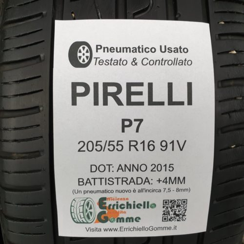 205/55 R16 91V Pirelli P7  – 50% +4mm – Gomme Estive