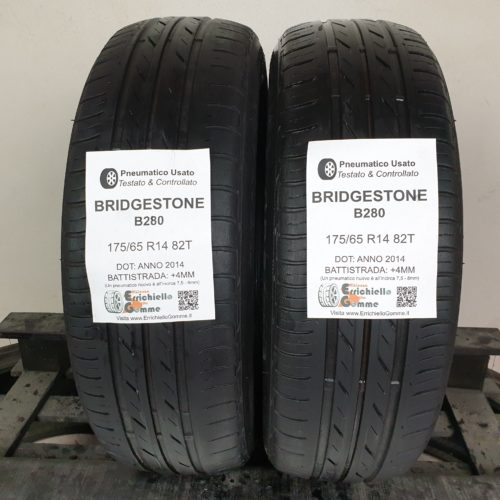175/65 R14 82T Bridgestone B280  – 50% +4mm Gomme Estive