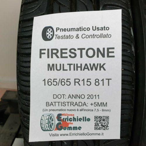 165/65 R15 81T Firestone MultiHawk –  60% +5mm – Gomme Estive