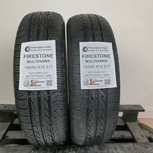 165/65 R15 81T Firestone MultiHawk –  60% +5mm – Gomme Estive