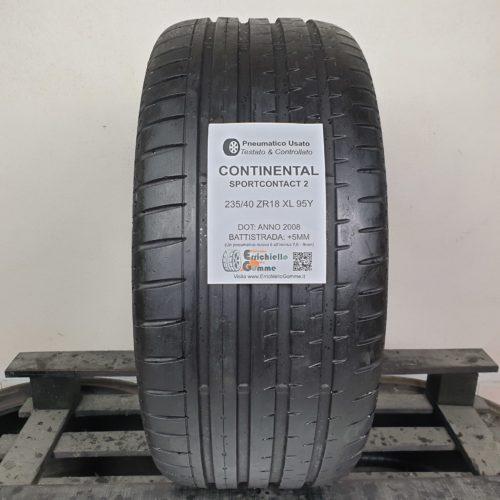 235/40 ZR18 XL 95Y Continental SportContact 2 – 60% +5mm Gomma Estiva