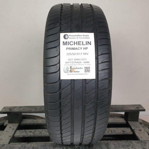 225/50 R17 94V Michelin Primacy HP – 70% +6mm Gomma Estiva