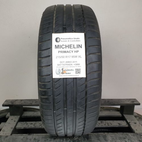 215/50 R17 95W XL Michelin Primacy HP – 60% +5mm Gomma Estiva