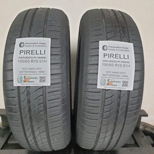 195/65 R15 91H Pirelli Cinturato P1 Verde  – 60% +5mm Gomme Estive