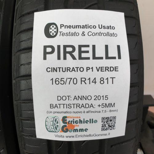 165/70 R14 81T Pirelli Cinturato P1 Verde  – 60% +5mm – Gomme Estive