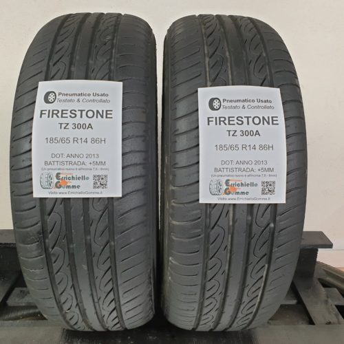 185/65 R14 86H Firestone TZ300A  – 60% +5mm – Gomme Estive