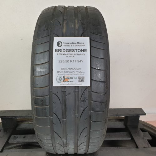 225/50 R17 94Y Bridgestone Potenza RE050 (RFT) (RSC) Runflat – 50% +4mm – Gomma Estiva