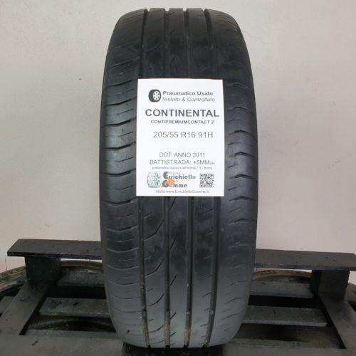 205/55 R16 91H Continental ContiPremiumContact 2 – 60% +5mm – Gomma Estiva