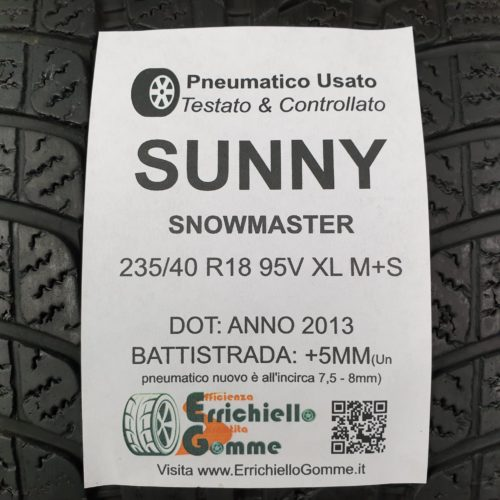 235/40 R18 95V XL M+S Sunny SnowMaster –  60% +5mm – Gomma Invernale