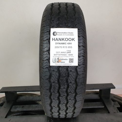 205/70 R15 95S Hankook Dynamic 4X4 – 100% +8mm – Gomme Estive
