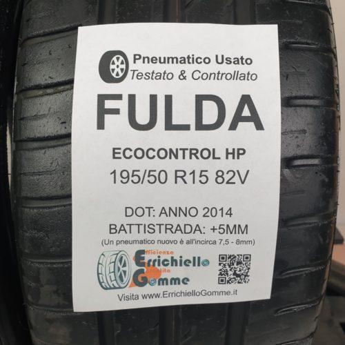 195/50 R15 82V Fulda EcoControl HP –    60% +5mm – Gomme Estive