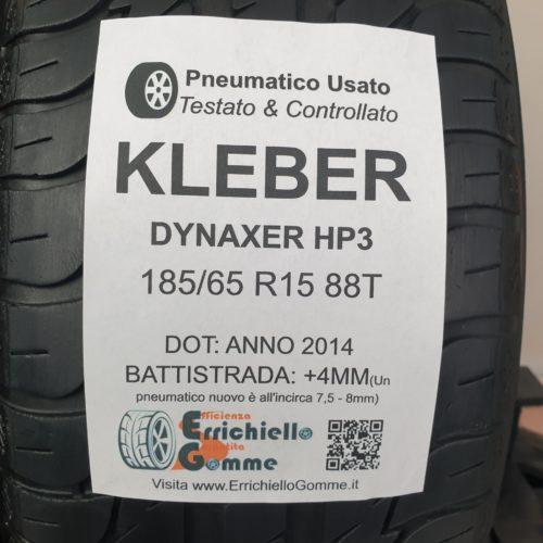 185/65 R15 88T Kleber Dynaxer HP3 –  50% +4mm – Gomme Estive