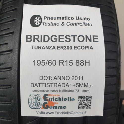 195/60 R15 88H Bridgestone Turanza ER300 Ecopia –  60% +5mm – Gomme Estive
