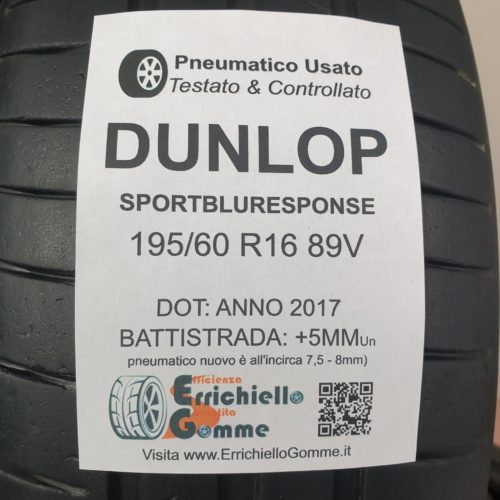 195/60 R16 89V Dunlop SportBlueResponse –  60% +5mm – Gomme Estive