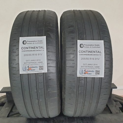 205/55 R16 91V Continental ContiPremiumContact 5 – 50% +4mm – Gomme Estive