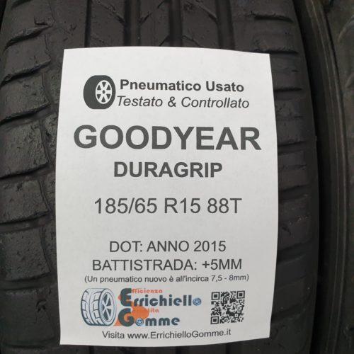 185/65 R15 88T Goodyear Duragrip – 60% +5mm – Gomme Estive